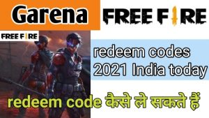 Garena Free Fire redeem codes 2021 India today